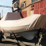 Транспортировочный тент на лодку Vinboat, пошив на заказ в Кемерово