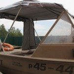 Изготовление ходового тента на лодку Alumacraft