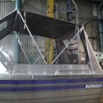 Изготовление ходового тента на лодку Gusboat Jet 470