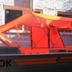 Изготовление ходового тента для лодки Wellboat