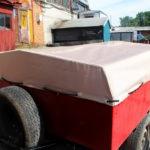 Тент на легковой прицеп «Юргинец» в Кемерово, изготовлен на заказ