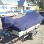 Пошив транспортировочного тента на лодку «Прогресс-4м» в Кемерово