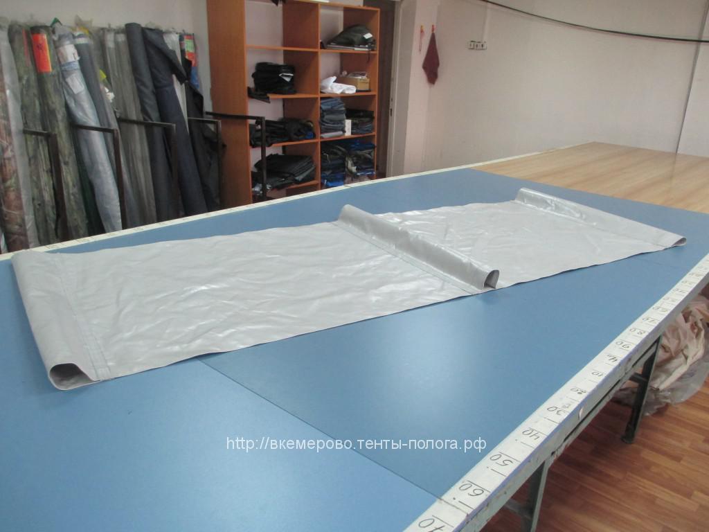 Изготовление защитного крыла-брызговика из ПВХ-ткани на грузовик МАЗ в Кемерово