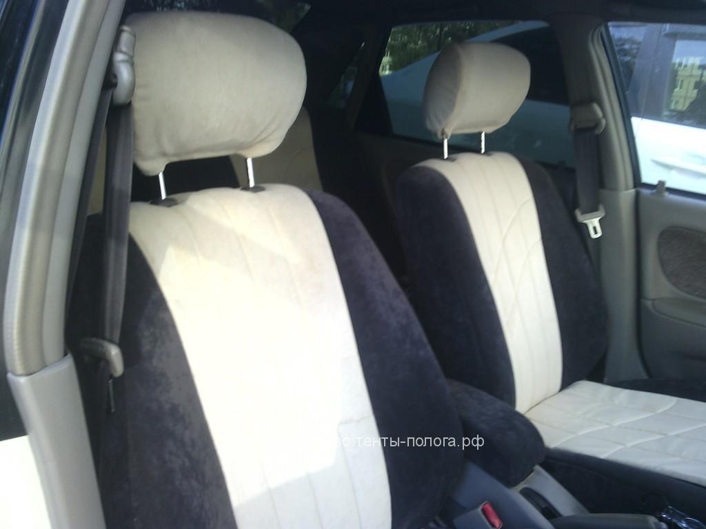 Пошив новых чехлов на сиденья автомобиля Toyota Corolla