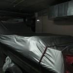 Пошив защитного тента-чехла на лодку Крым