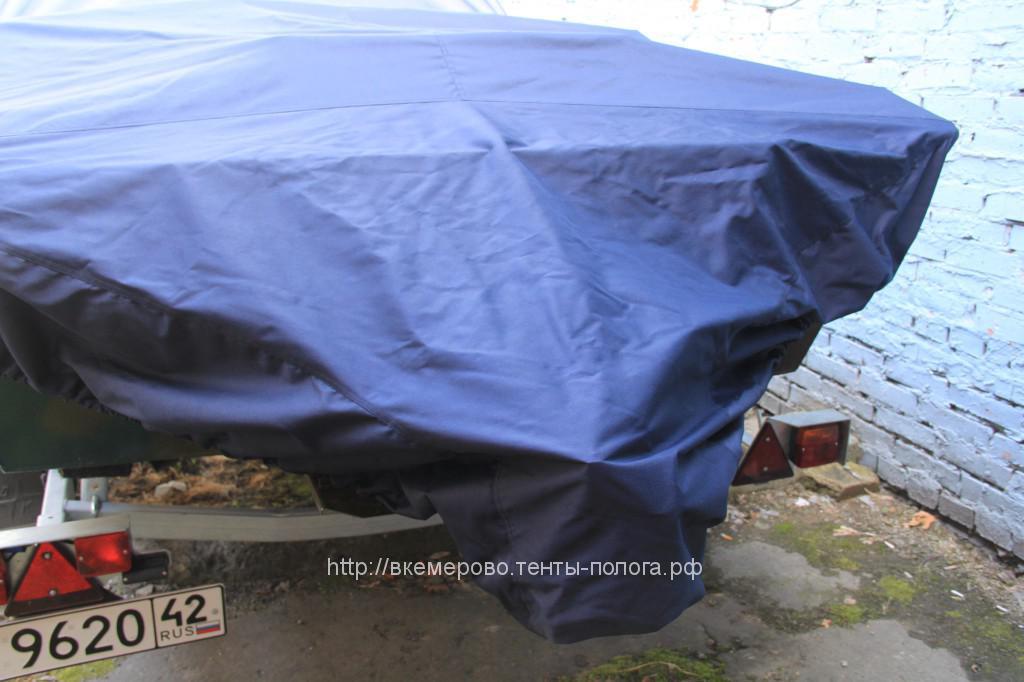 Укарыной защитный тент на лодку «Бриз»