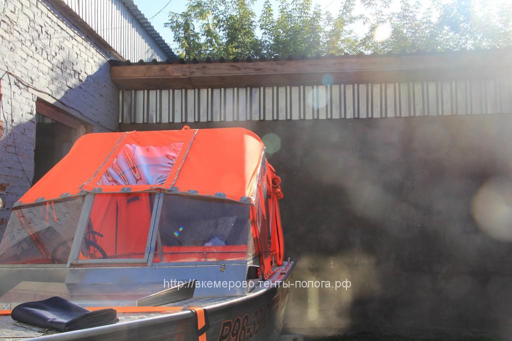 Изготовление ходового тента для лодки Wellboat в Кемерово