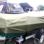 Защитный транспортировочный тент на лодку Обь