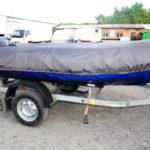 Транспортировочный тент на лодку Solar 480, пошив в Кемерово на заказ