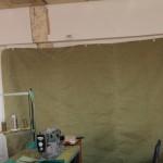 Гаражная штора из брезента