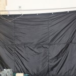 Гаражная штора трехслойная, черная