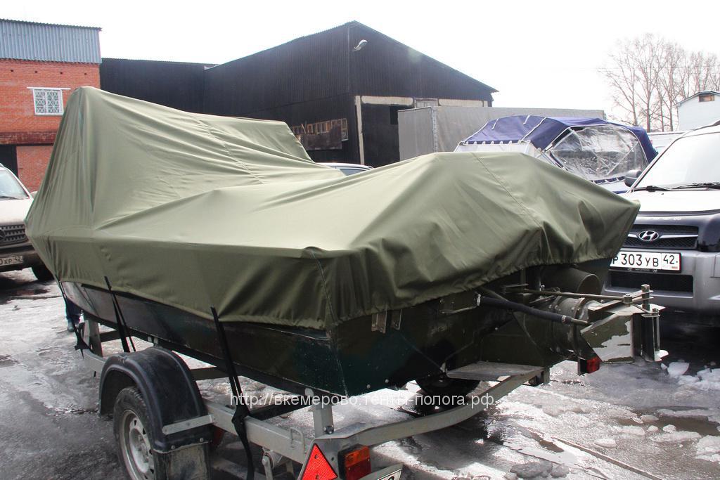 Производство тента на лодку Rusboat 460