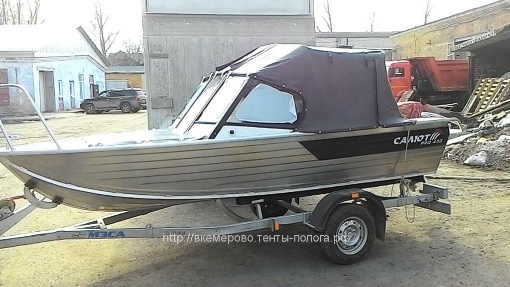 Изготовление ходового тента на лодку Salut 430 Pro