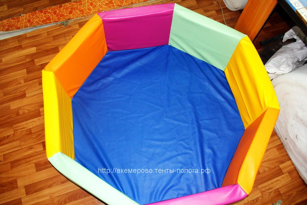 Бассейн детский для шариков из кожзама
