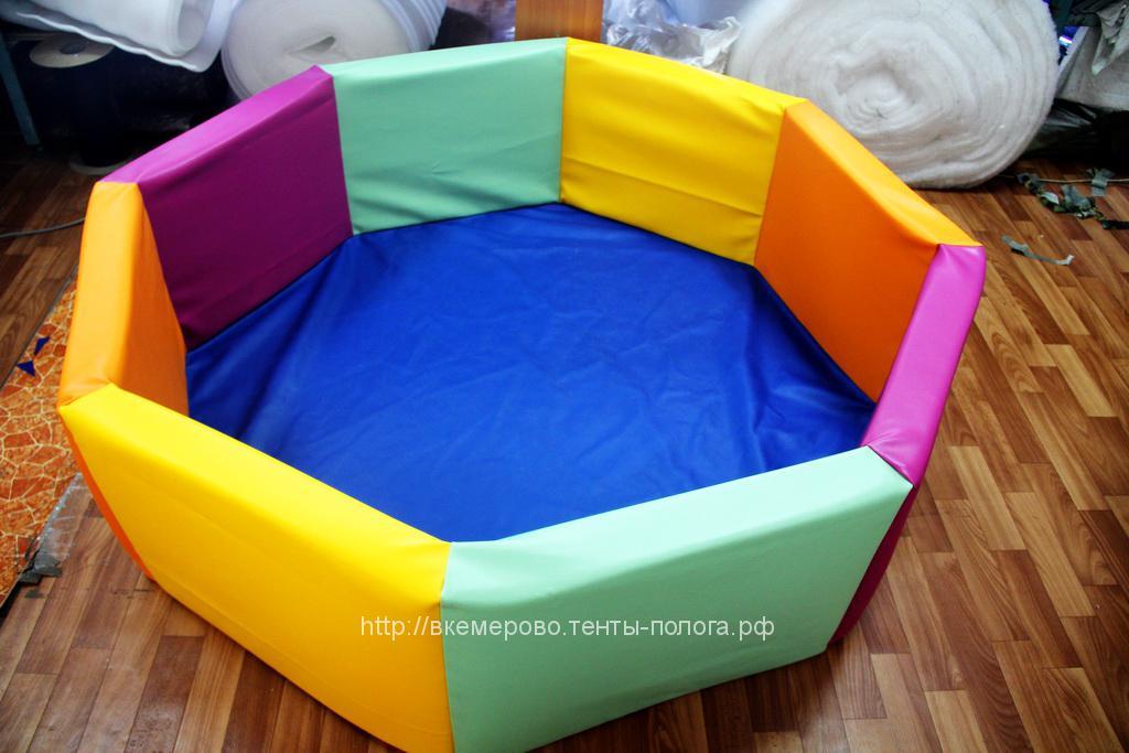 Бассейн из кожзама детский для шариков