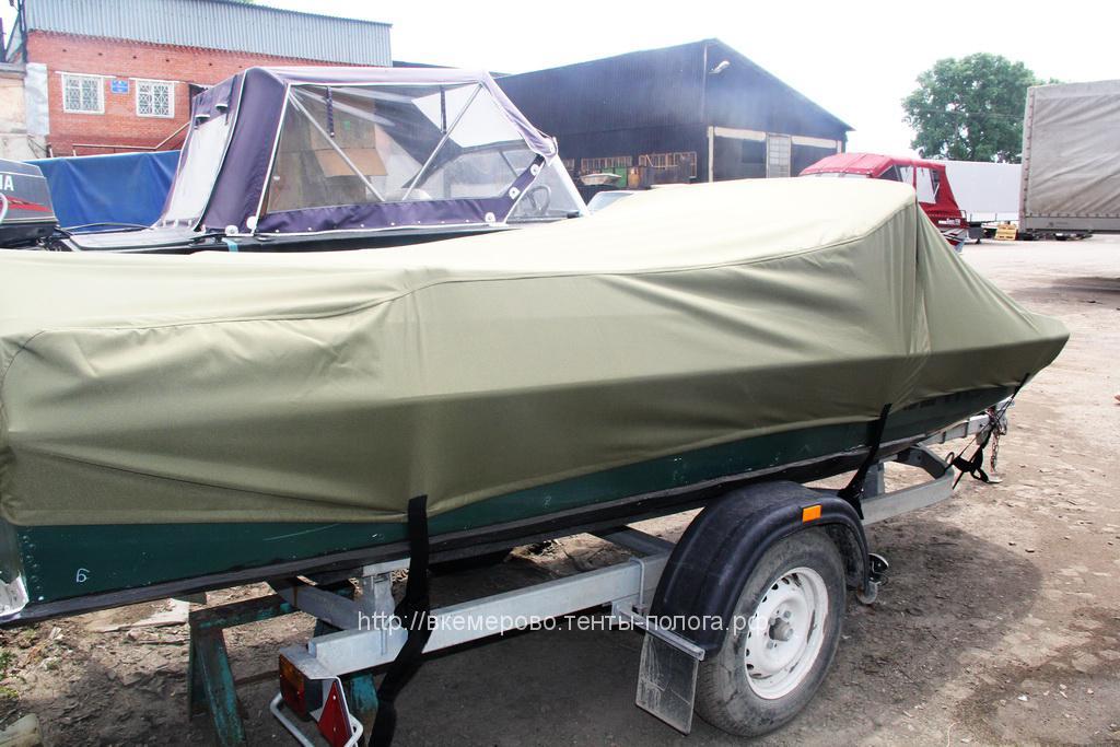 Защитный транспортировочный тент-чехол на лодку Обь, изготовлен на заказ в Кемерово