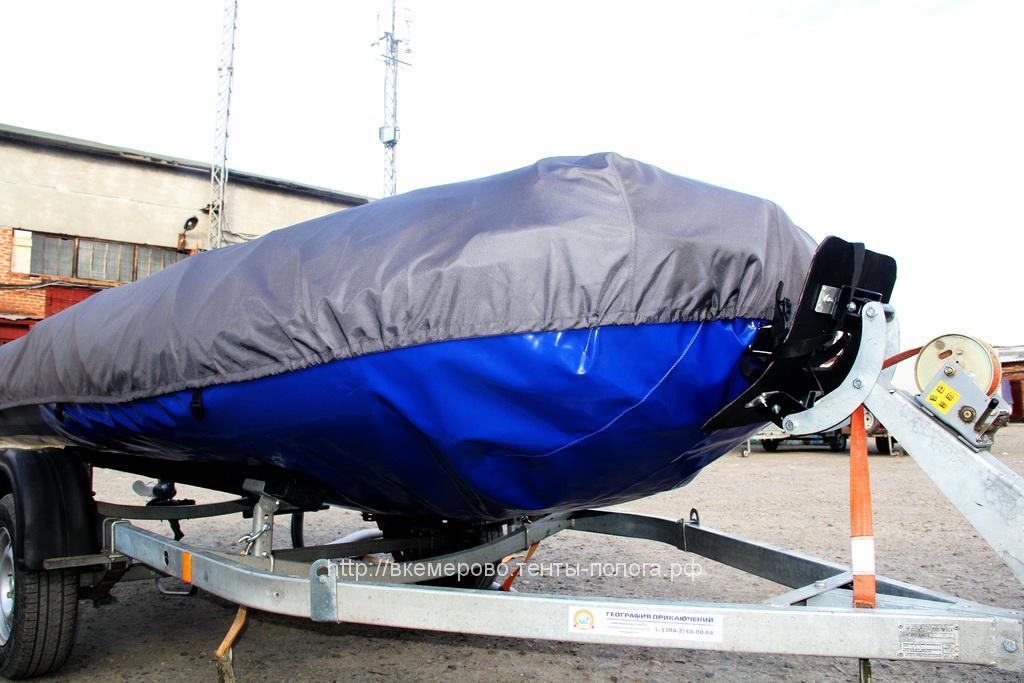 Тент-защита дня лодки Solar 480, пошив в Кемерово на заказ